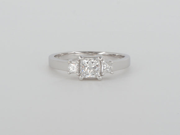 18k White Gold 3 Diamond  Ring Availabel at The Vault Fine Jewellery