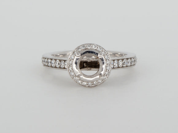 18k White Gold 88 Diamond Ring Semi Diamond Ring Availabel at The Vault Fine Jewellery