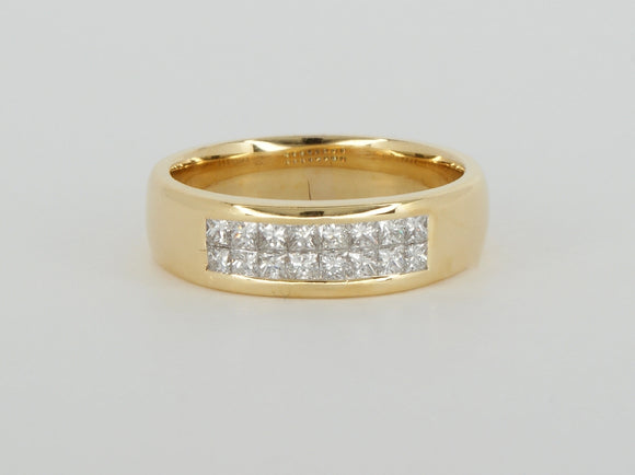 18k Yellow Gold 16 Diamonds Diamond Ring Availabel at The Vault Fine Jewellery