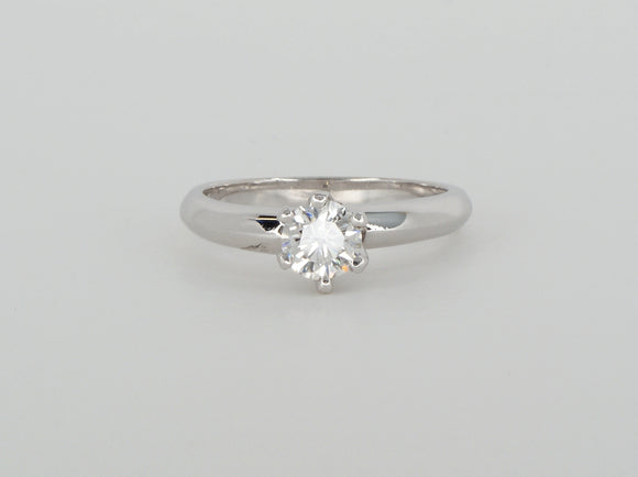 14k White Gold Solitaire Diamond Ring Availabel at The Vault Fine Jewellery