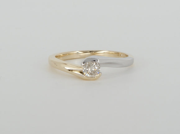 10k Yellow Gold Diamond Ring Availabel at The Vault Fine Jewellery