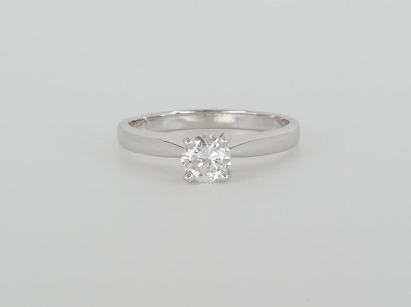 White Gold Solitaire Diamond Ring Availabel at The Vault Fine Jewellery