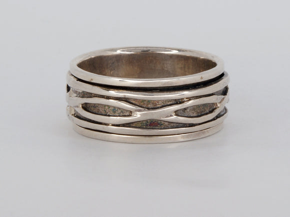 Sterling Silver Spinner Ring Availabel at The Vault Fine Jewellery