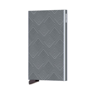 Grey Titanium Laser Structure Cardprotector by Secrid