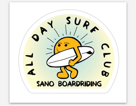 All Day Surf Club Sticker