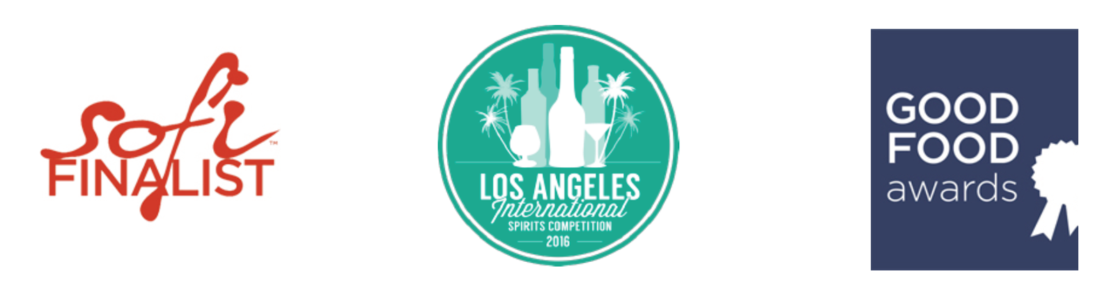 SOFI award winning, Los Angeles International Spirts, Good Food awards winning products