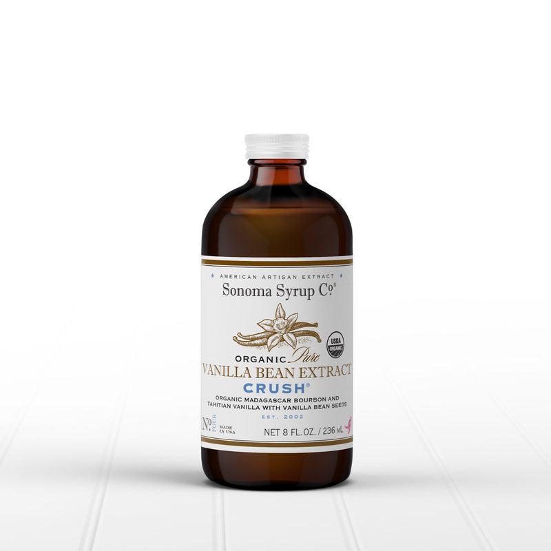 Organic Original Tahitian & Madagascar Vanilla Extract with crushed vanilla seeds