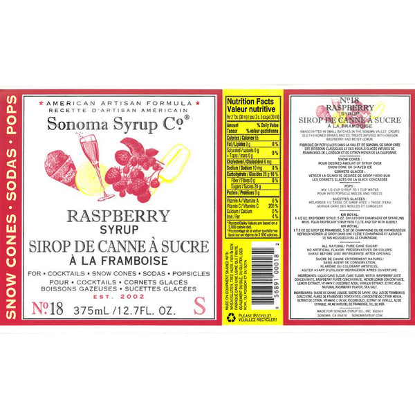 No. 18 Raspberry Simple Syrup