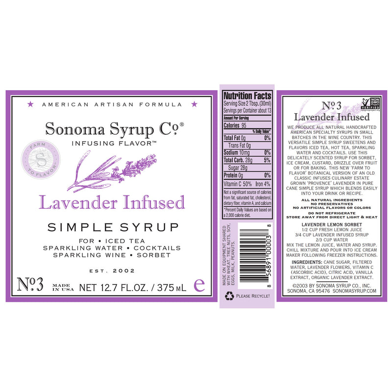 No. 3 Lavender Infused Simple Syrup