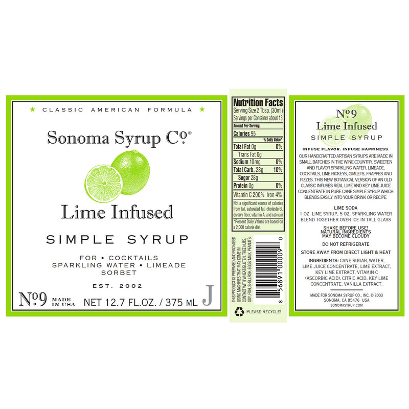 No. 9 Lime Infused Simple Syrup