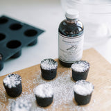 Organic Original Tahitian & Madagascar Vanilla Extract with crushed vanilla seeds in Bouchon Cork Dessert Recipe