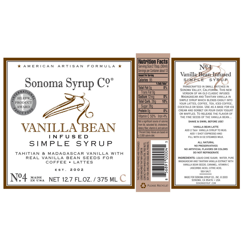 No. 4 Vanilla Bean Simple Syrup