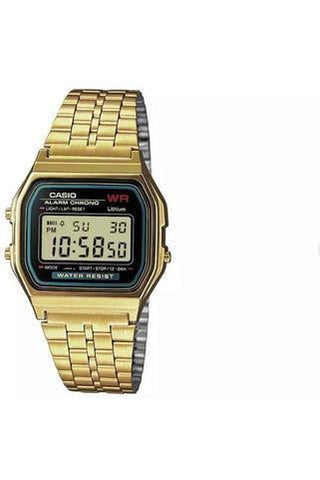 Casio Gold Stainless Steel Bracelet Watch watch CASIO, retro, Watch