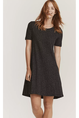 FATFACE Black Mini Spot Print Dress Dress