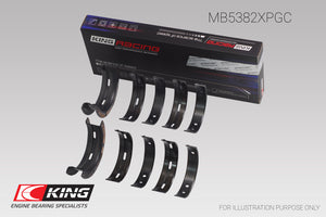 King Subaru EJ20/EJ22/EJ25 (Incl. Turbo) (Size 0.25) pMaxBlack Coated Main Bearing Set