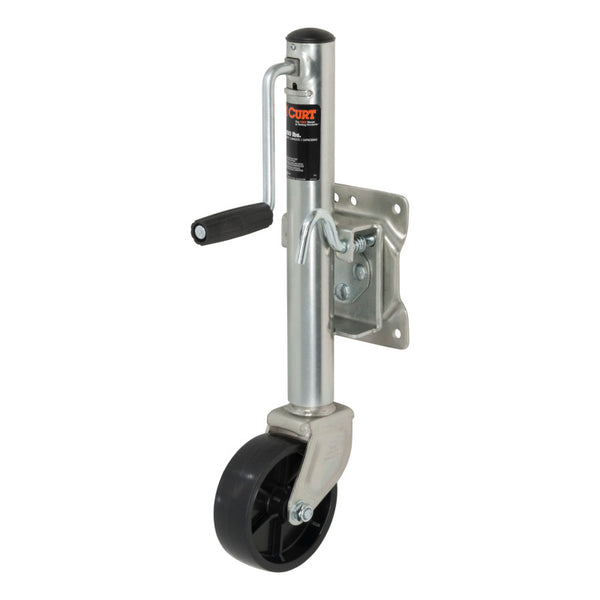 Curt Marine Jack w/6in Wheel (1200lbs 10in Travel Packaged)