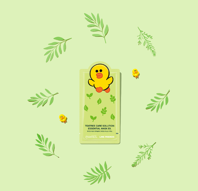 Line Friends Teatree Care Solution Essential Mask EX - Plump Shop
