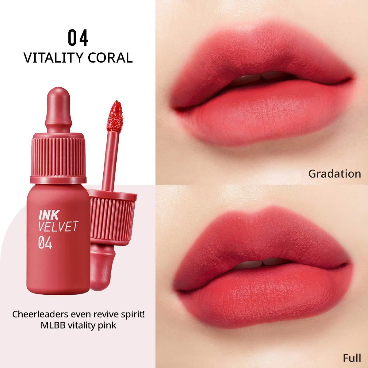 Ink The Velvet Lip Tint #04 Vitality Coral - Plump Shop