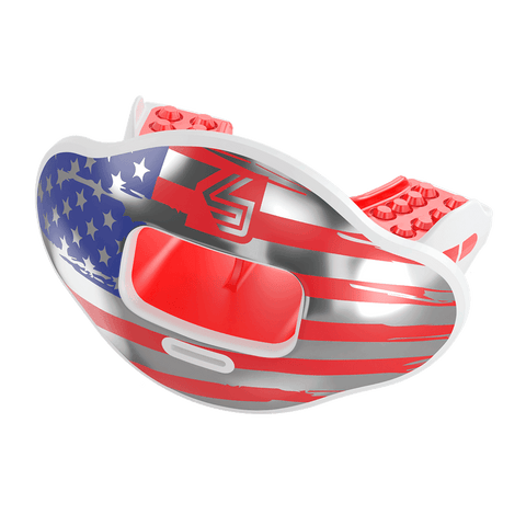 Chrome Flag Max AirFlow Football Mouthguard