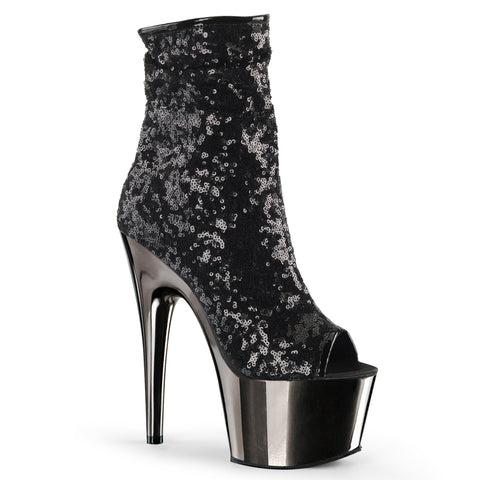 ADORE-1008SQ - Blk Sequins/Dark Pewter Chrome