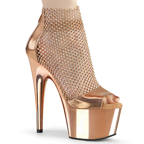 ADORE-765RM - R.Gold Metallic Pu-RS Mesh/R.Gold Chrome