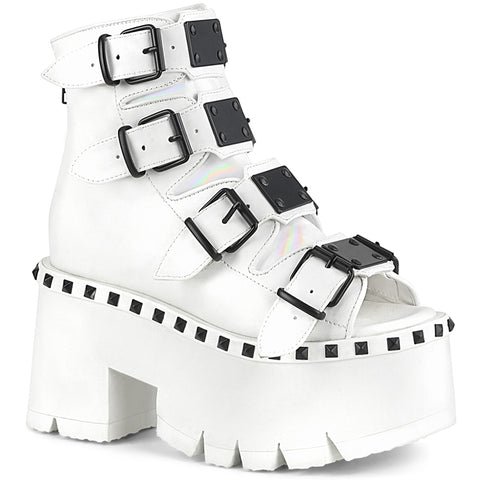 ASHES-70 - Wht Vegan Leather