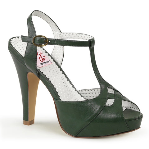 BETTIE-23 - Forst Green Faux Leather