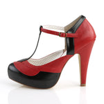 BETTIE-29 - Blk-Red Faux Leather