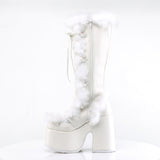CAMEL-311 - Wht Vegan Leather