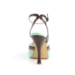 CUTIEPIE-01 - Mint Multi Faux Leather