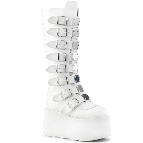 DAMNED-318 - Wht Vegan Leather