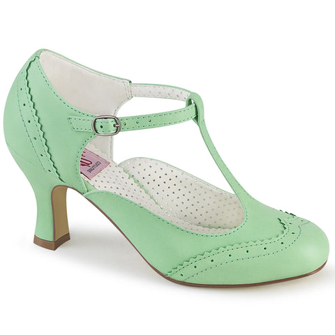 FLAPPER-26 - Mint Faux Leather