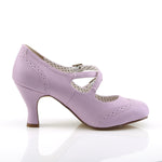 FLAPPER-35 - Lavender Faux Leather
