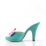 SIREN-03 - Teal-Pink Faux Leather