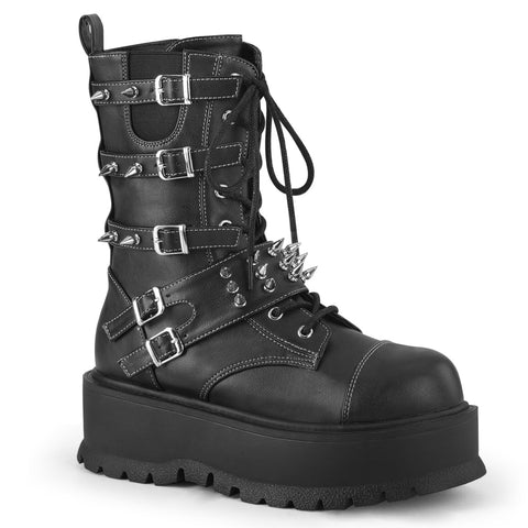 SLACKER-165 - Blk Vegan Leather