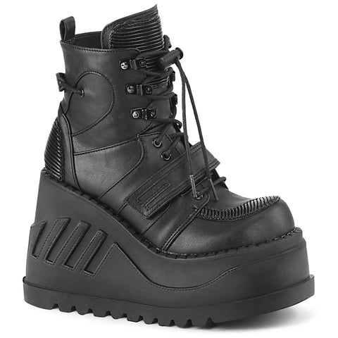 STOMP-13 - Blk Vegan Leather
