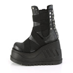 STOMP-25 - Blk Vegan Leather-Elastic Bands