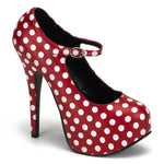 TEEZE-08 - Red Pu-Wht Polka Dots