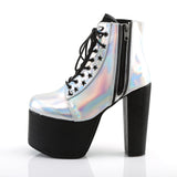 TORMENT-712 - Slv Hologram Vegan Leather