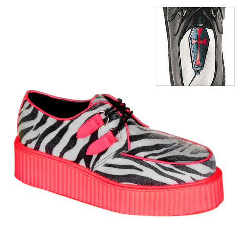 V-CREEPER-507UV - Zebra Fur-UV Red