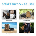Load image into Gallery viewer, Portable DSLR Universal Drawstring Bags Hand Held Waterproof Canvas Lens Bag