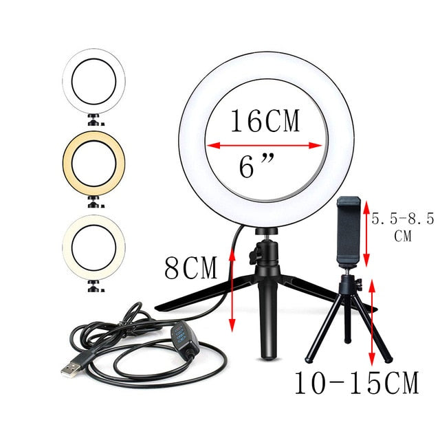 Lighting Ring With Tripod Stand