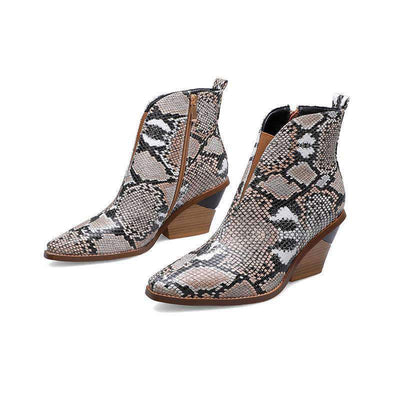Bottines Peau Serpent