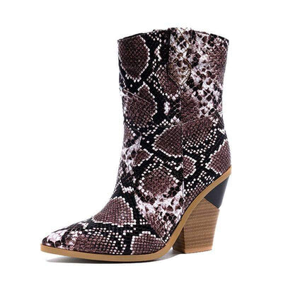 Bottines Serpent Santiag Marron