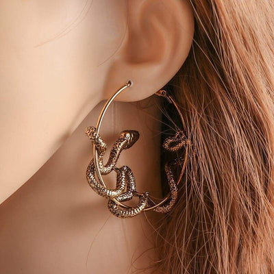 Boucles d'Oreilles animal Cercle Or