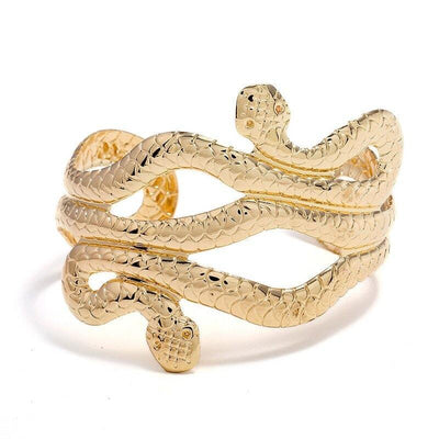 Bracelet Manchette Serpent Or