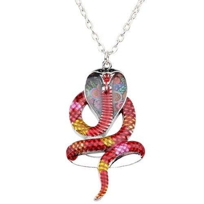 Collier rouge Serpent
