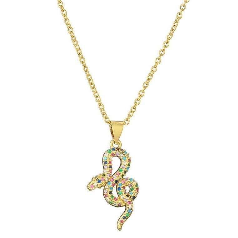 Collier Serpent Multicolore
