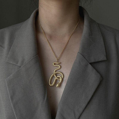 Collier Serpent Or Femme