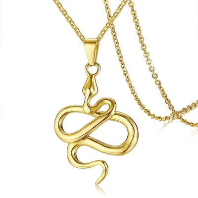 Collier Serpent Or Homme
